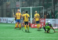 Delhi Waveriders hit 2nd goal against Jaypee Punjab Warriors.