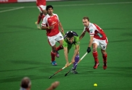 Delhi Waveriders in action against Mumbai Magicians at Delhi on 16-jan-2013