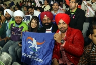 punjabi-singer-deep-mani-spotted-at-delhi-match-between-delhi-waveriders-vs-mumbai-magicians-on-26th-jan-2013