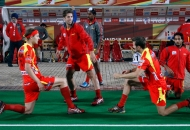 ranchi-rhinos-team-during-warp-up-session-at-delhi-against-delhi-waveriders-match-on-30th-jan-2013-3