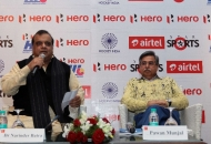 Hockey India Secretary General & Chairman of Hero Hockey India League Dr. Narinder Batra and Managing Director & CEO of Hero MotoCorp Ltd Mr. Pawan Munjal addressing to Media and Guests.