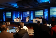 Players Auction in process at The Lalit in New Delhi on Sunday