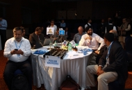 Punjab Warriors owners in a discussion during the Hockey India League Players Auction