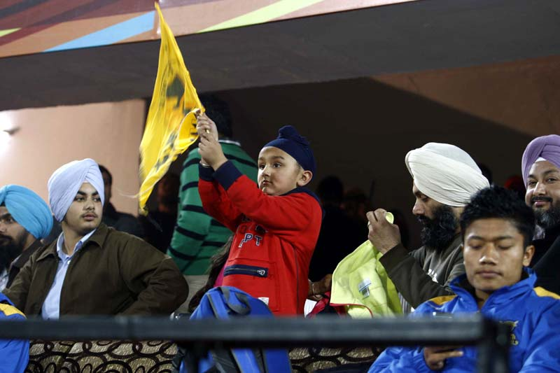 Punjab Warriors spectator a little kid cheering their team