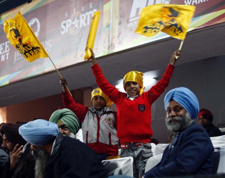 Punjab Spectators cheers their team
