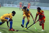Punjab Warriors and Ranchi Rhinos player in action during the match between Punjab Warriors and Ranchi Rhinos on 16th jan 2013.