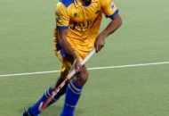 Gurmeet Singh player of Punjab Warriors in action