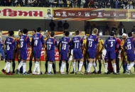 Team before the match match between UP Wizards vs Punjab Warriors at Jalandhar on 17th Jan 2013