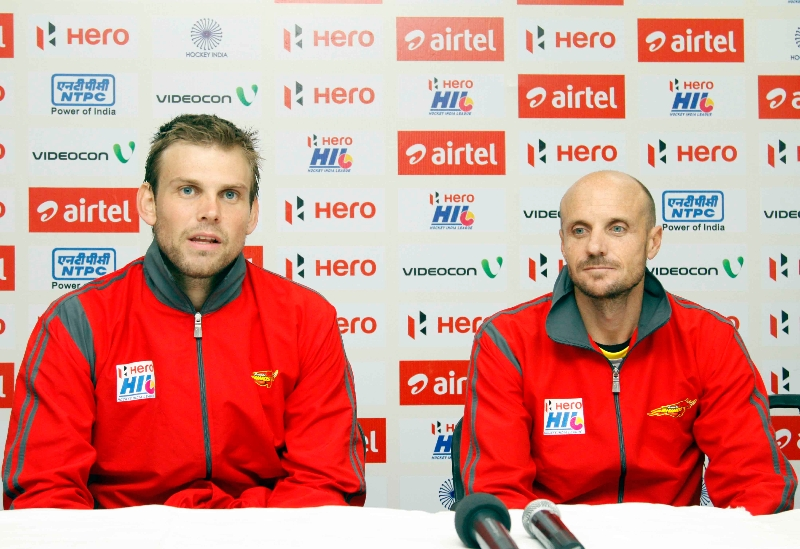 moritz-furste-along-with-his-coach-during-post-match-press-conference-at-jalandhar-on-4th-feb-2013