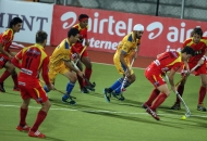 ranchi-rhinos-and-punjab-warriors-player-in-action-during-the-match-at-jalandhar-on-4th-feb-2013