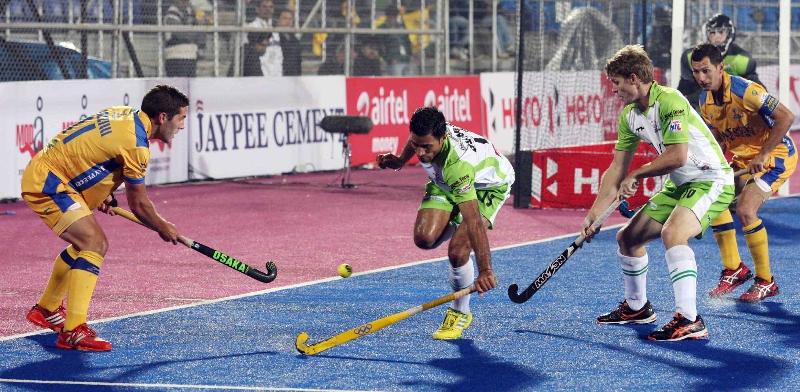 Gurbaj Singh of DWR in action against JPW