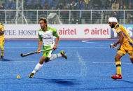 jason wilson of JPW in HHIL 2014 match on 25th Jan 2014 at mohali