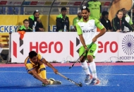 JPW player in action against DWR in HHIL 2014 match on 25th Jan 2014 at mohali