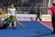 JPW scoring 1st goal against DWR in HHIL 2014 match on 25th Jan 2014 at mohali