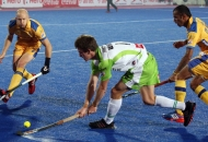 Tristan White of DWR in action in HHIL 2014 match on 25th Jan 2014 at mohali