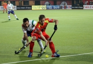 BARRY MIDDLETON OF RR IN ACTION AGAINST UPW IN THEIR HERO HOCKEY INDIA LEAGUE 2014 ON 26TH JAN 2014 AT RANCHI