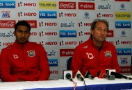 VR Raghunath and roelant oltmans coach of UPW team during post match press conference