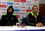 sardar singh captain and cedric dsouza coach of DWR team during post match press conference