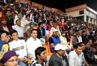 Crowd of Bhubaneswar watching the match