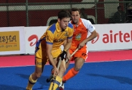 Simon Orchard of JPW in action against KL