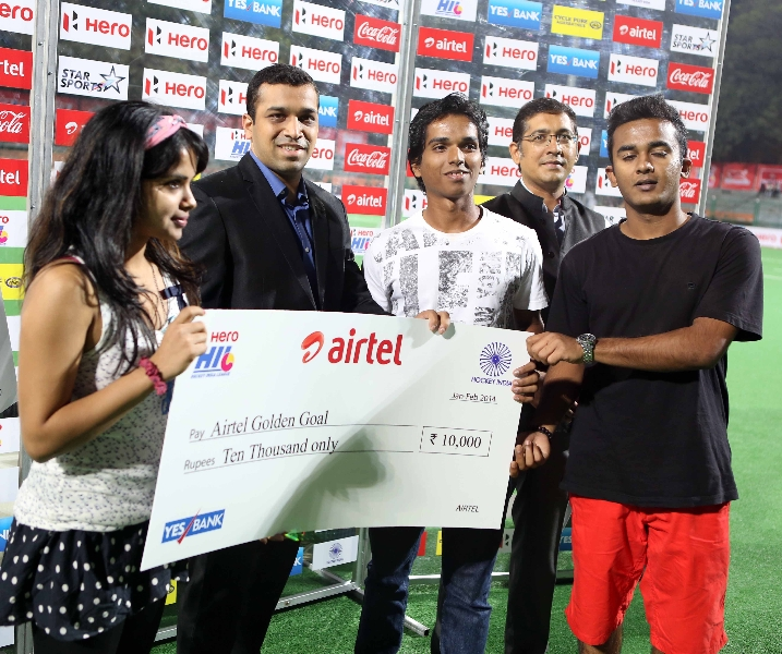 Airtel goal of the match awards during presentation ceremony
