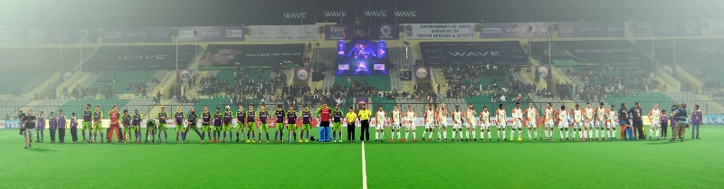 dwr-and-kl-team-line-up-on-30-jan-2014-at-delhi