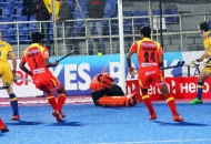 RR scoring-a-goal-against-JPW at mohali