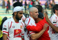 DMM celebrates after winning the Match against UPW at Lucknow