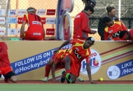 ranchi-rhinos-team-during-their-warp-up-session-at-ranchi-against-up-wizards-1st-semi-final-match-on-9th-feb-2013-1