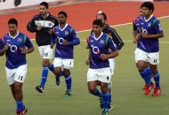 vr-raghunath-with-his-team-mates-during-warmup-session-at-ranchi