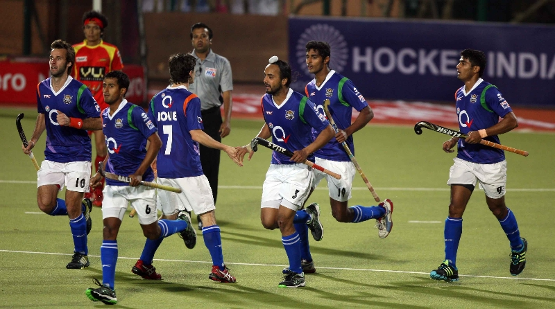 upw-team-celebrate-his-second-goal-against-rr-during-the-1st-semi-finals-at-ranchi-on-9th-feb-2013