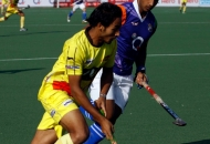 UP Wizards and Ranchi Rhinos player in action during the match between up wizards and Ranchi Rhinos at lucknow on 20th Jan 2013