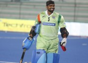 PR Sreejesh of UP Wizards during Coal India HIL2