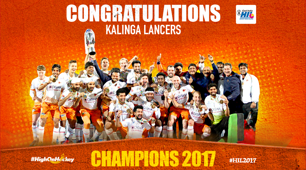 Kalinga Lancers crowned the Champions of Coal India Hockey India League